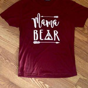 MAMA BEAR TEE  🐻 RED | WINE
